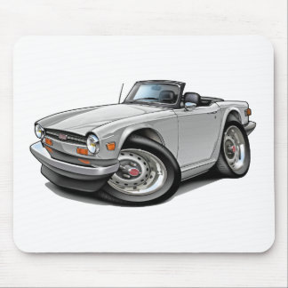 Triumph TR6 White Car Mouse Pad