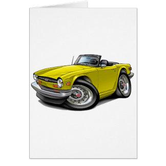 Triumph TR6 Yellow Car Card