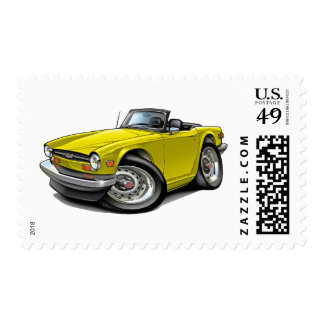 Triumph TR6 Yellow Car Postage Stamps
