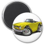 Triumph TR6 Yellow Car Refrigerator Magnets