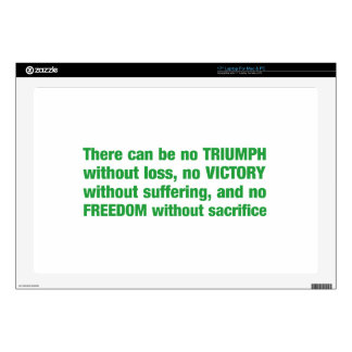 """Triumph, victory, freedom - saying skins for 17"""" laptops"""