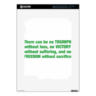 Triumph, victory, freedom - saying iPad 3 decals