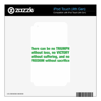 Triumph, victory, freedom - saying decals for iPod touch 4G
