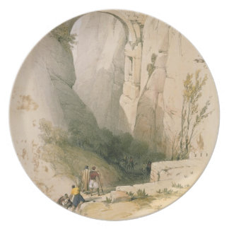 Triumphal Arch crossing the Ravine leading to Petr Melamine Plate