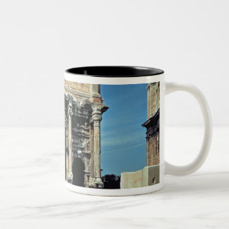 Triumphal Arch of Septimius Severus, dedicated in Two-Tone Coffee Mug