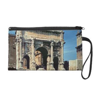 Triumphal Arch of Septimius Severus, dedicated in Wristlet Purse