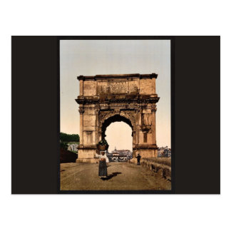 Triumphal Arch of Titus, Rome, Italy classic Photo Postcard