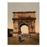 Triumphal Arch of Titus,Rome, Lazio Italy Posters
