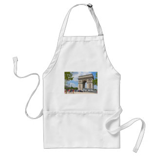 Triumphal Arch on Champs Elysees boulevard in Pari Adult Apron