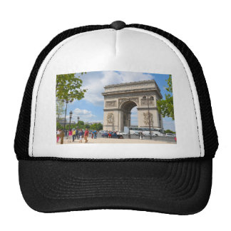 Triumphal Arch on Champs Elysees boulevard in Pari Trucker Hat