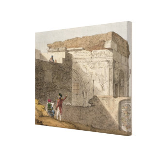 Triumphal Arch, Tripoli, plate 4 from 'A Narrative Stretched Canvas Prints