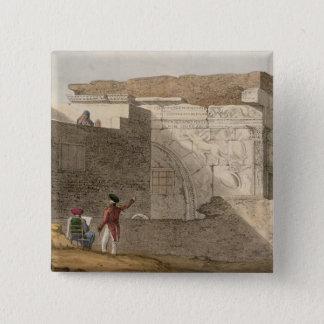 Triumphal Arch, Tripoli, plate 4 from 'A Narrative Pinback Button