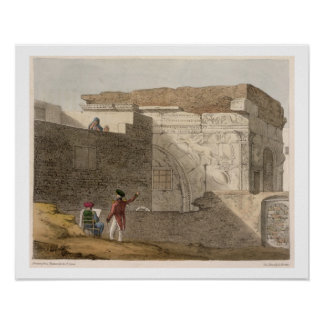 Triumphal Arch, Tripoli, plate 4 from 'A Narrative Poster