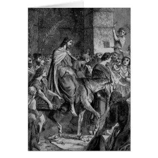 Triumphal Entry of Christ into Jerusalem Card