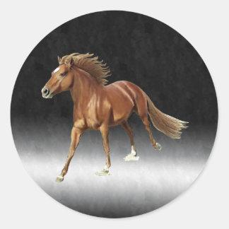 Triumphant Horse Classic Round Sticker