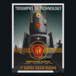 """TRIUMPHS IN TECHNOLOGY: The Pennsy T1 Poster<br><div class=""""desc"""">TRIUMPHS IN TECHNOLOGY: A monthly poster series. The first poster of the series features the Pennsylvania Railroad steam engine, the T1 Duplex-Drive locomotive. It's stream line design brought to life and designed by Raymond Lowey, the T1 was one of the fastest locomotives ever put into production. Check the store routinely...</div>"""