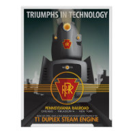 TRIUMPHS IN TECHNOLOGY: The Pennsy T1 Posters