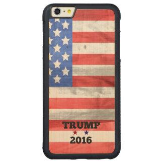 Triunfo 2016 con la bandera americana funda de arce bumper carved® para iPhone 6 plus