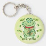 ¡Triunfo afortunado de la rana! Llaveros