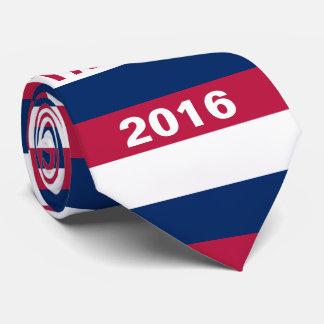 Triunfo blanco y azul rojo 2016 corbata personalizada