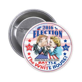 Triunfo contra Hillary 2016 Pin Redondo De 2 Pulgadas