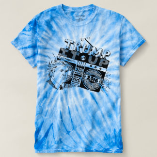 TRIUNFO de Boombox ÉL ENCIMA de la camiseta azul Poleras