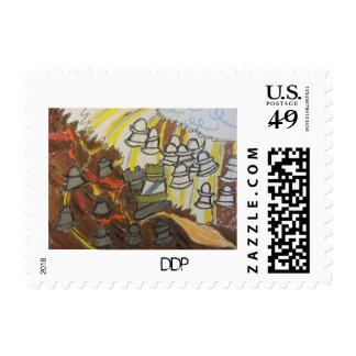 Triunfo de dios en el extremo timbres postales