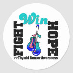 Triunfo de la esperanza de la lucha - cáncer de etiqueta redonda
