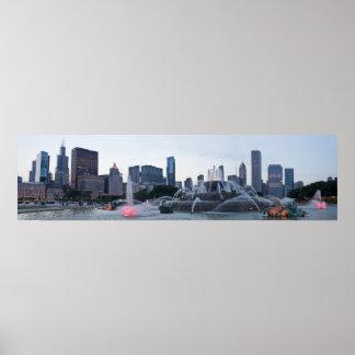 Triunfo de los Chicago Blackhawks del panorama Poster