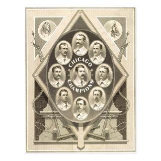Triunfo de los Chicago Cubs el 1r banderín Postales