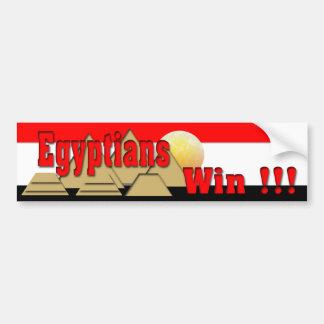 Triunfo de los egipcios pegatina de parachoque