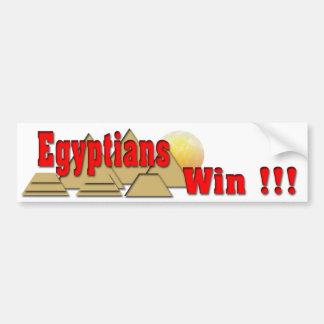 Triunfo de los egipcios pegatina para auto