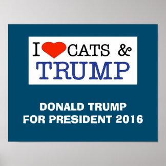 Triunfo de los gatos del amor póster