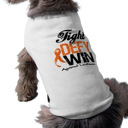 Triunfo del desafio de la lucha de la leucemia playera sin mangas para perro