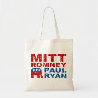 Triunfo del voto del funcionamiento de Romney Ryan Bolsas Lienzo