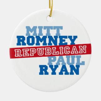 Triunfo del voto del funcionamiento de Romney Ryan Adornos De Navidad