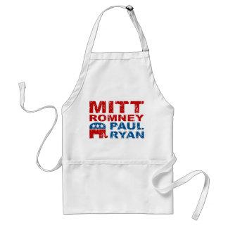Triunfo del voto del funcionamiento de Romney Ryan Delantales