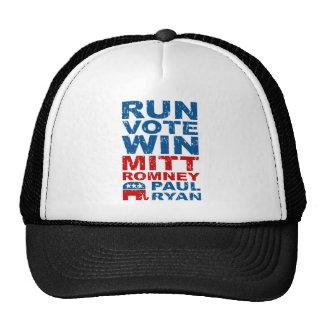 Triunfo del voto del funcionamiento de Romney Ryan Gorras