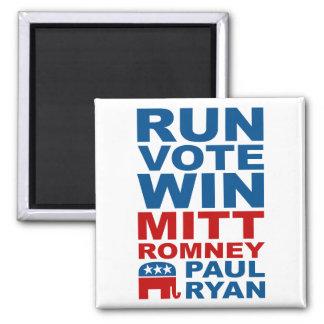 Triunfo del voto del funcionamiento de Romney Ryan Imán Cuadrado