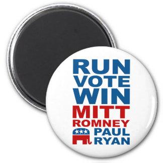 Triunfo del voto del funcionamiento de Romney Ryan Imán Redondo 5 Cm