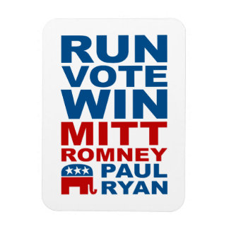 Triunfo del voto del funcionamiento de Romney Ryan Imanes Rectangulares