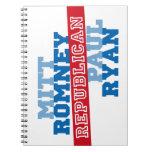 Triunfo del voto del funcionamiento de Romney Ryan Libretas Espirales