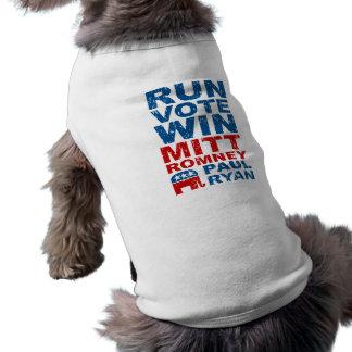 Triunfo del voto del funcionamiento de Romney Ryan Playera Sin Mangas Para Perro