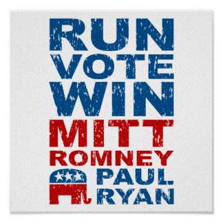 Triunfo del voto del funcionamiento de Romney Ryan Póster