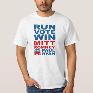 Triunfo del voto del funcionamiento de Romney Ryan Remeras