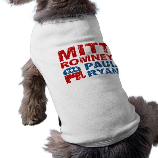 Triunfo del voto del funcionamiento de Romney Ryan Ropa Para Mascota