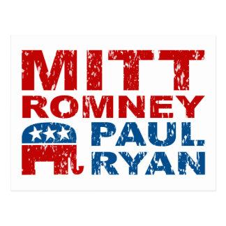 Triunfo del voto del funcionamiento de Romney Ryan Tarjeta Postal