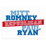 Triunfo del voto del funcionamiento de Romney Ryan Postales