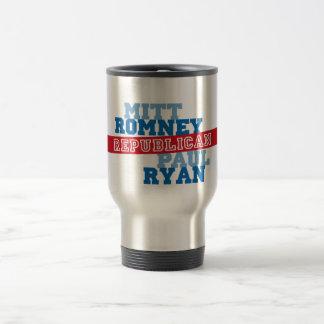 Triunfo del voto del funcionamiento de Romney Ryan Tazas