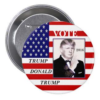 Triunfo del voto, Donald Trump Pin Redondo De 3 Pulgadas